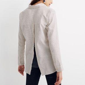 Madewell Flannel Boyfriend Button Back Shirt NEW!